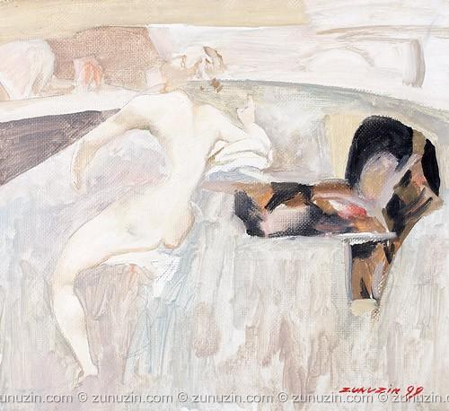 Modern oil painting - Morning