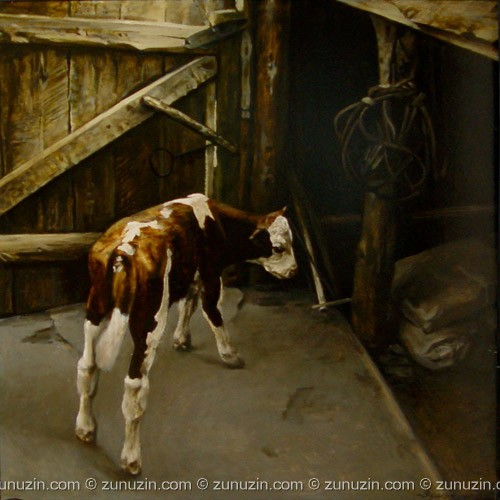 Traditional art for sale - On a farmyard