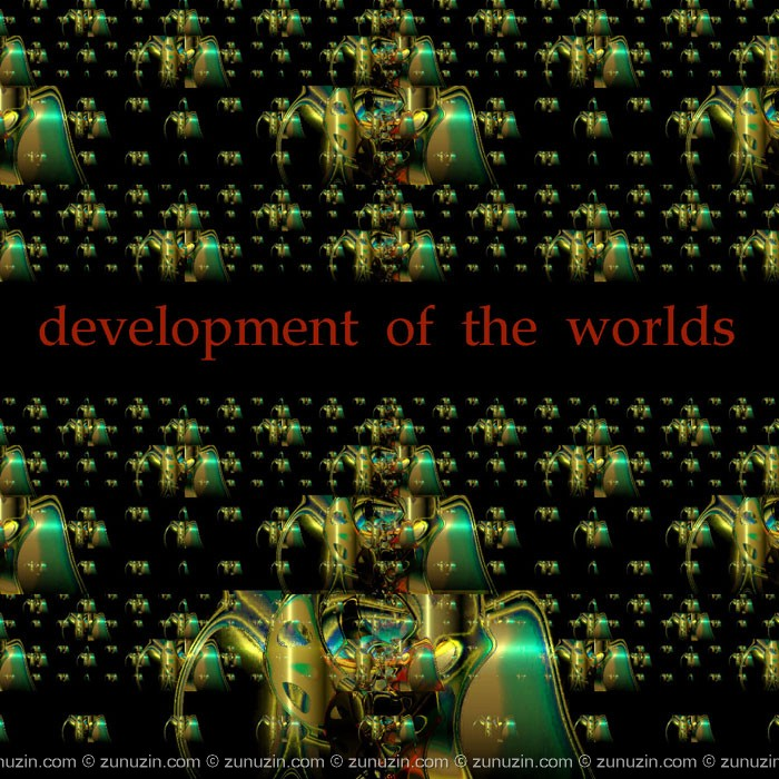 Psychedelic art poster - Development of the worlds