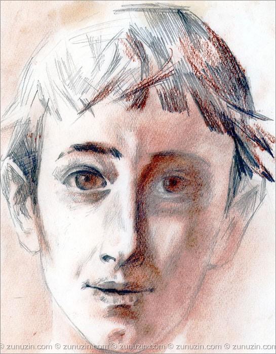 Colored pencil art - Portrait of a Boy