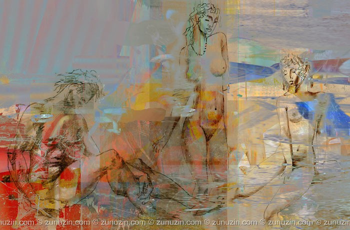 Digital art for sale - Painter and muses