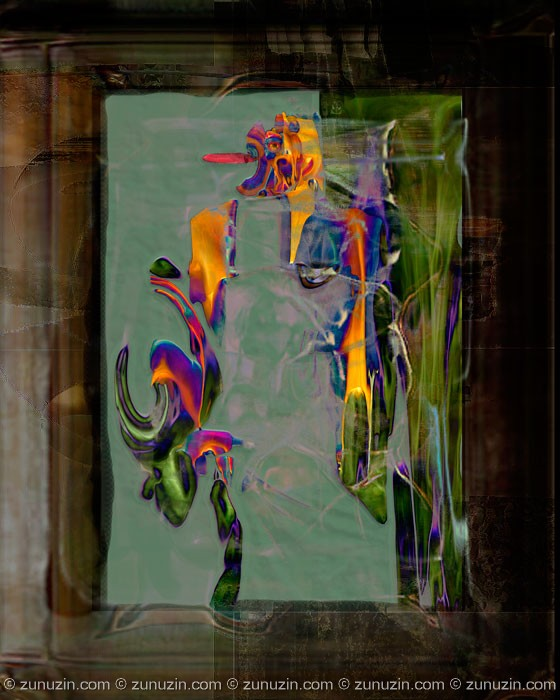 Abstract art print - Oracle