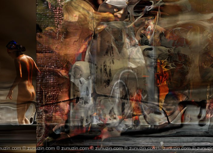 Digital art on canvas - Out of time