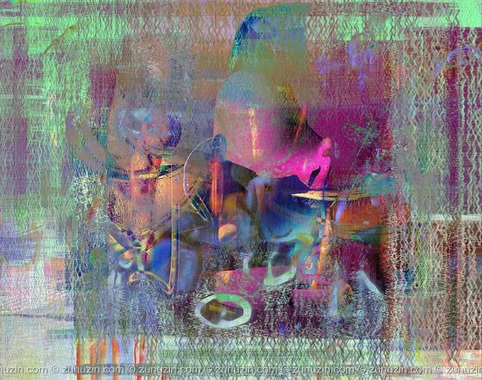 Art decor print - Abstract Gobelin