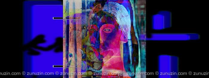 Digital art print - Blue lady: Manhattan