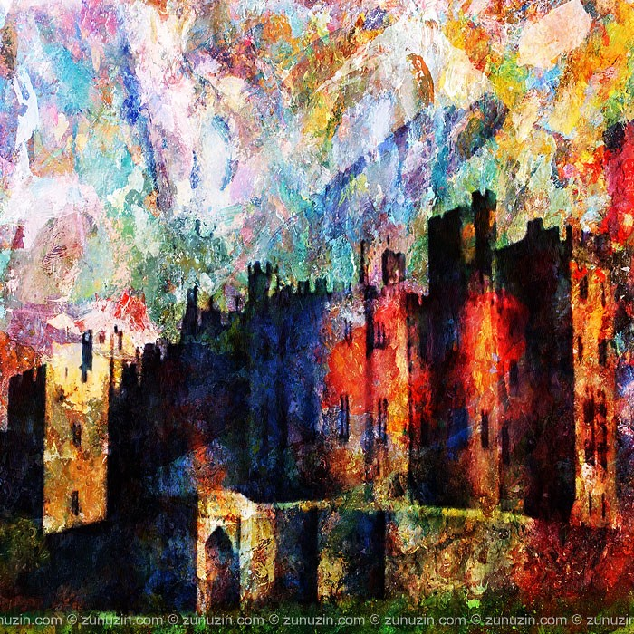 Scotland Castle Art Poster - Nortumberland Castle