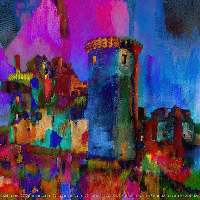 Scottish Castle Art Poster - Caerlaverock Castle