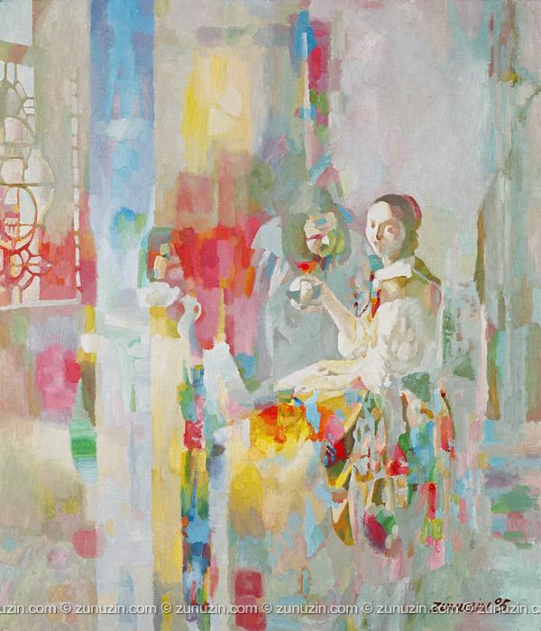 The girl with the wine glass (Jan Vermeer Van Delft Improvisation Improvisation)