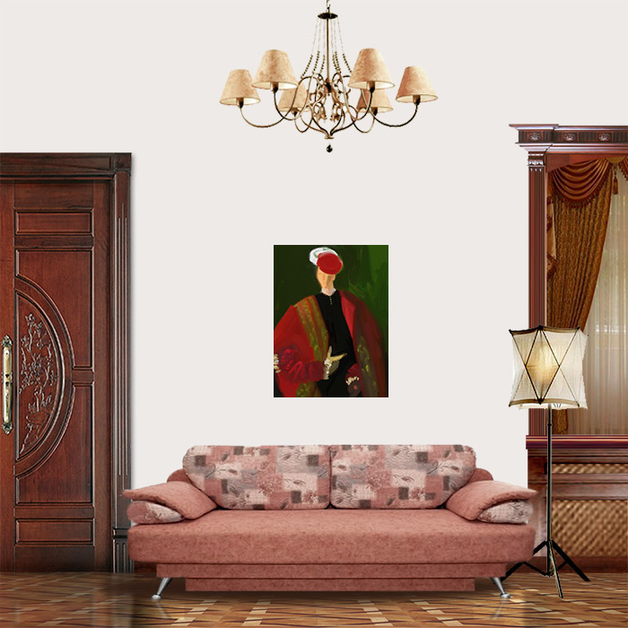 View in Room - Man in Red Beret