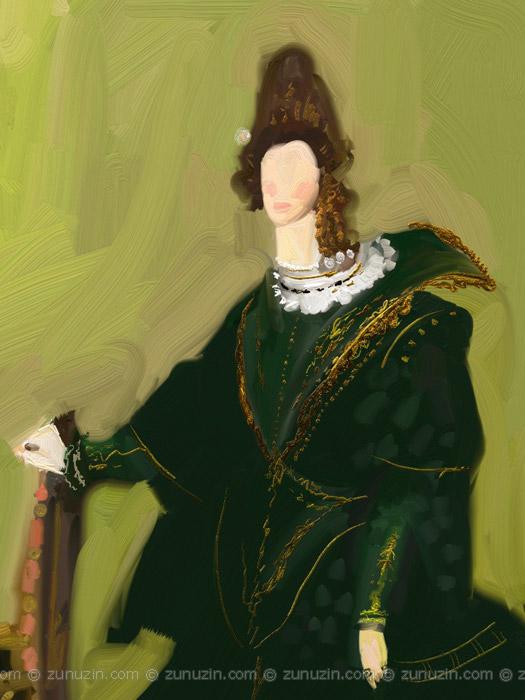 Woman in a Green Dress