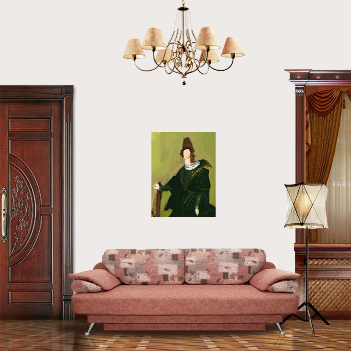 View in Room - Woman in a Green Dress