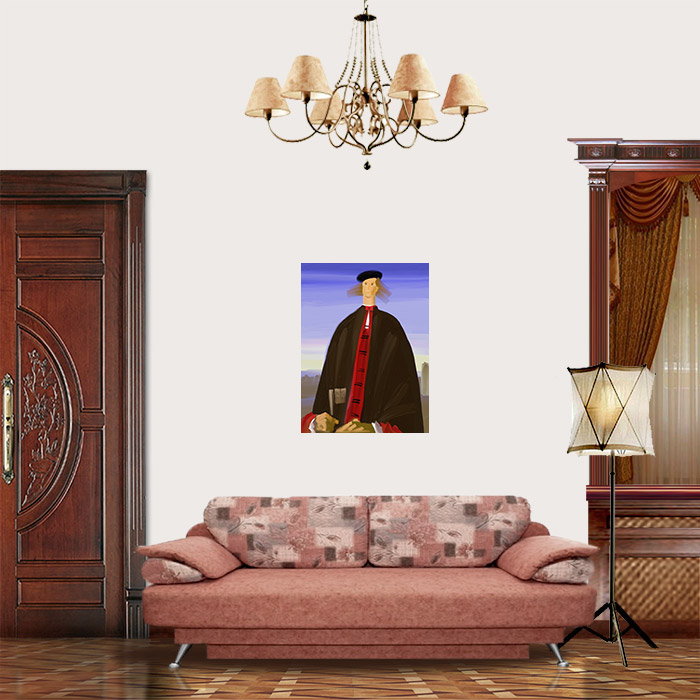 View in Room - Portrait of a Man