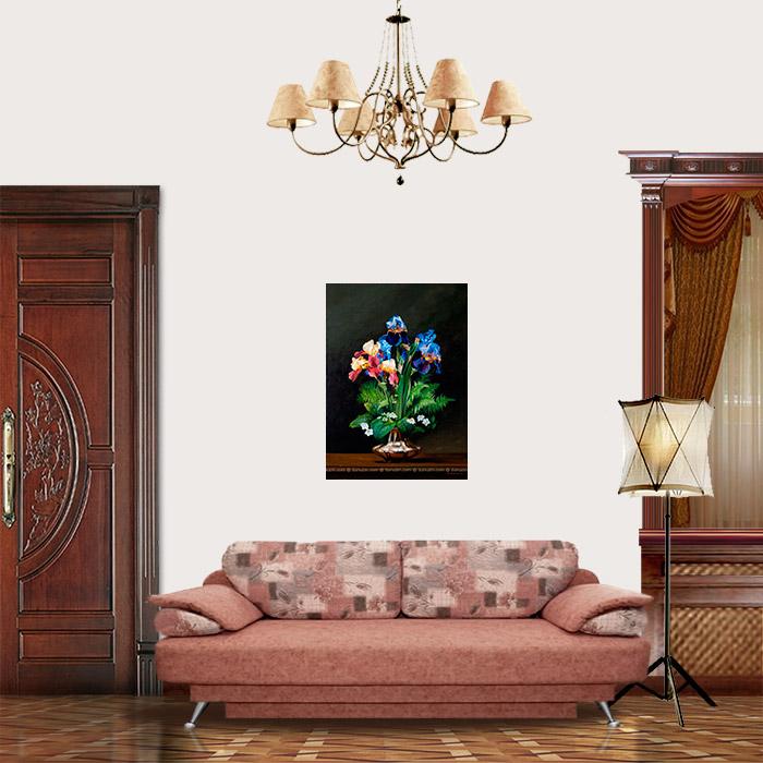 View in Room - Vase with Irises