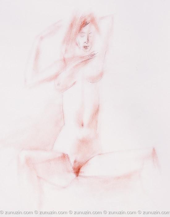 Naked drawing art - The naked girl