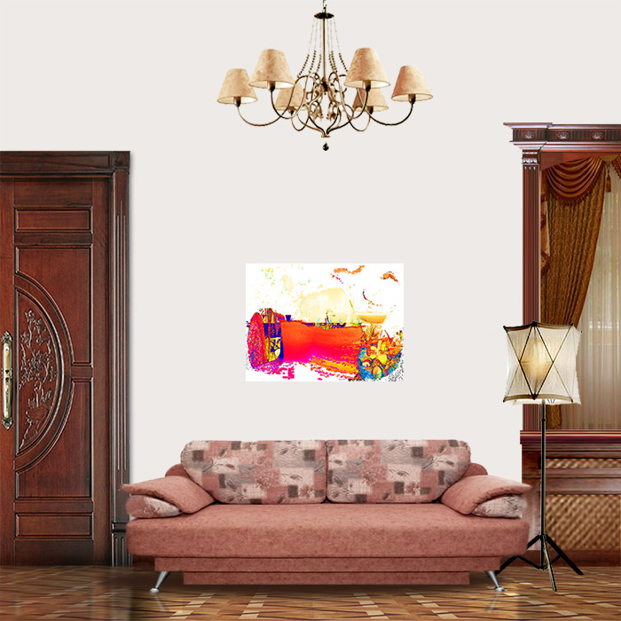 View in Room - Abstract landscape with a portrait