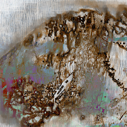 Fragment - Landscape with a dog
