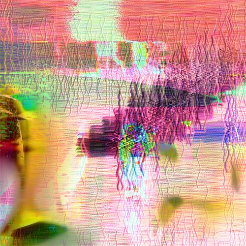 Fragment - Landscape. Pink Winter