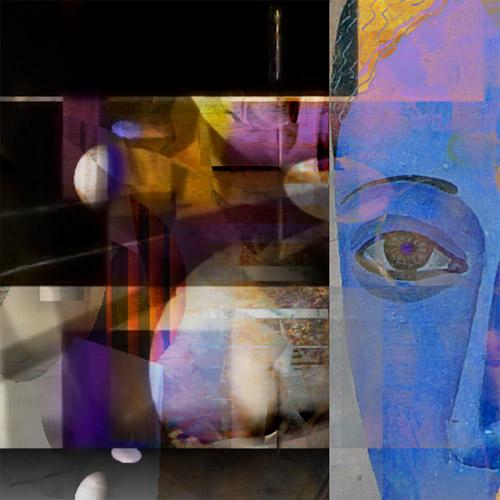 Fragment - Blue lady: Portrait in frame