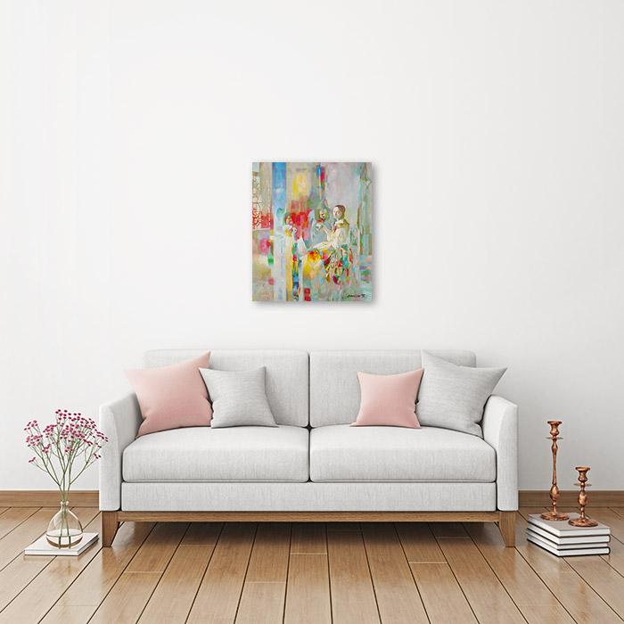 View in Room - The girl with the wine glass (Jan Vermeer Van Delft Improvisation)