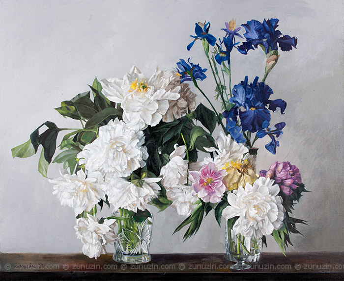 Peonies and Irises