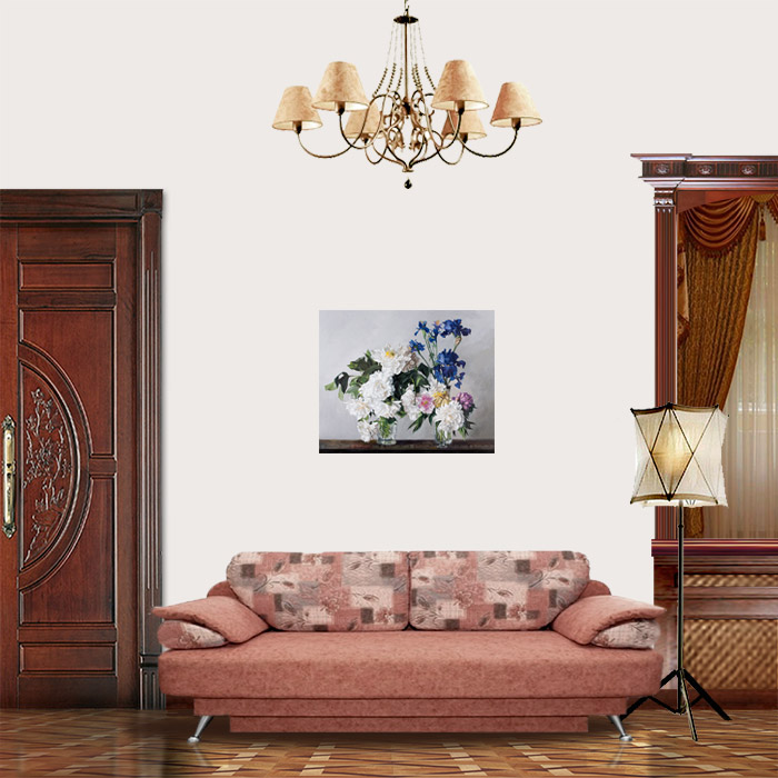 View in Room - Peonies and Irises