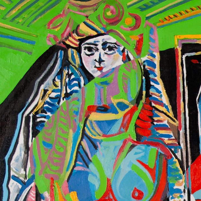 Fragment - Les femmes d'Alger, Version O (Reflections on works by Pablo Picasso)