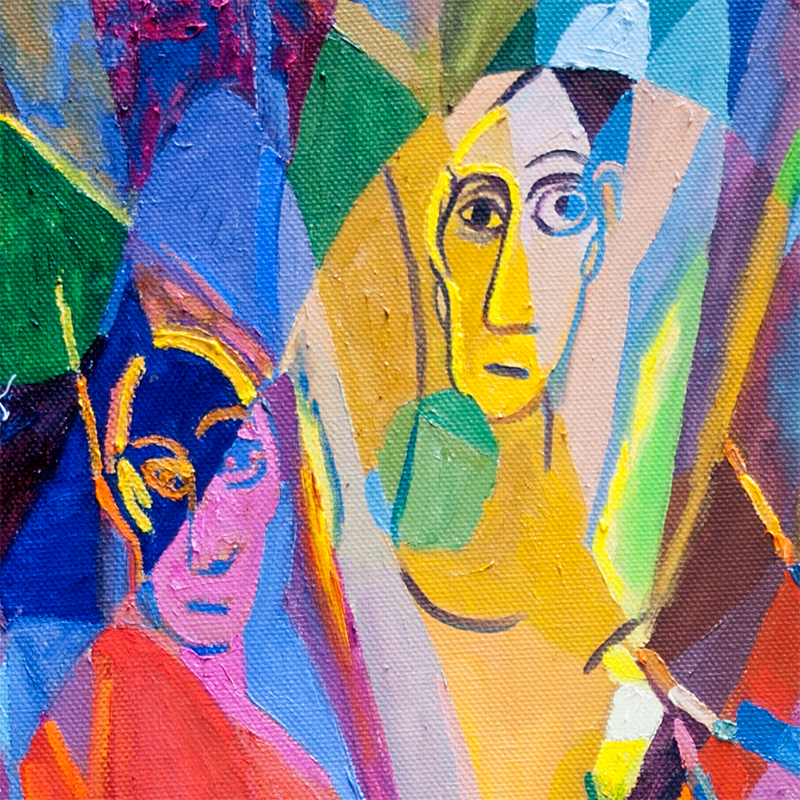 Fragment - The Girls of Avignon (Reflections on works by Pablo Picasso)