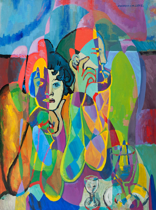 Harlequin And His Companion (Reflections on works by Pablo Picasso)