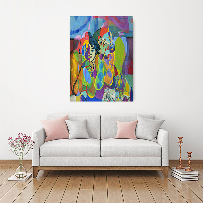 View in Room - Harlequin And His Companion (Reflections on works by Pablo Picasso)