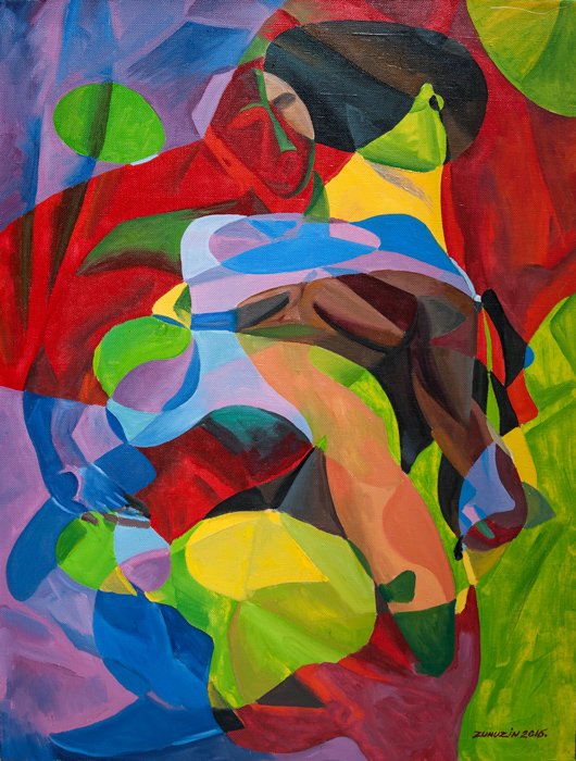 A driade. Nude in the forest (Reflections on works by Pablo Picasso)