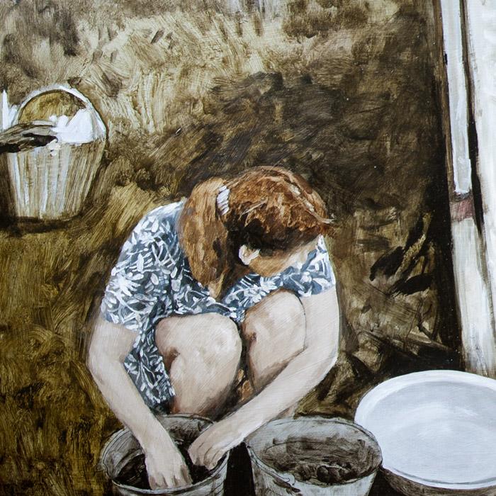 Fragment - Valya washes mushrooms