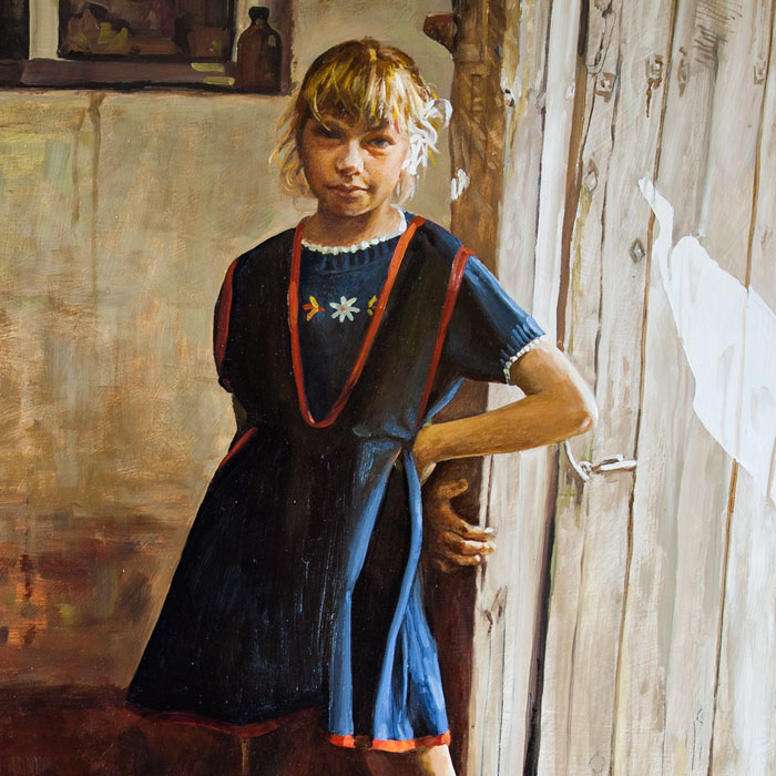 Fragment - Olga at the door