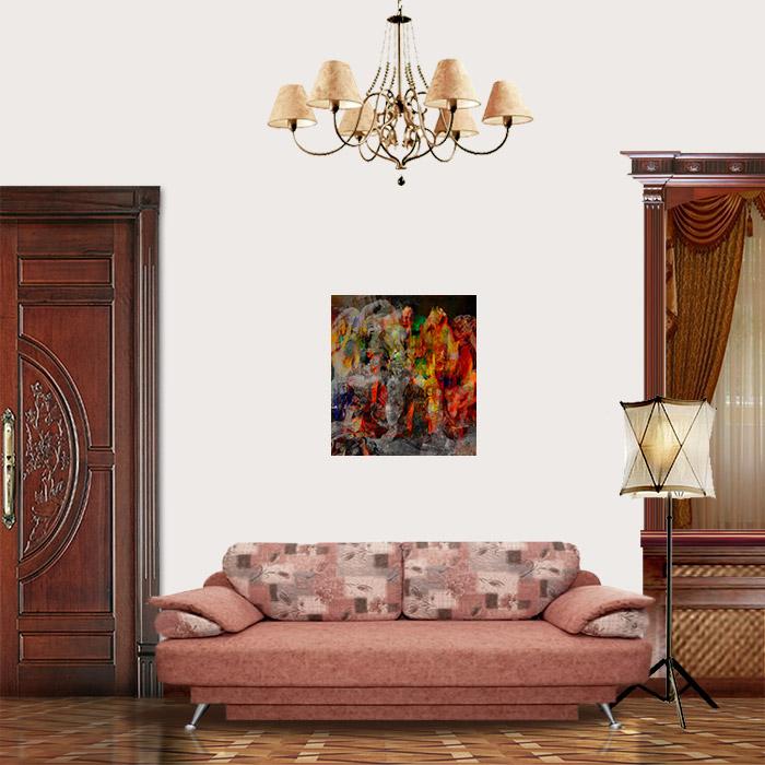 View in Room - The Drunken Hercules (Peter Paul Rubens Improvisation)