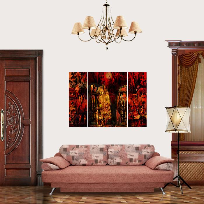 View in Room - Haystack (triptych) (Hieronymus Bosch Improvisation)