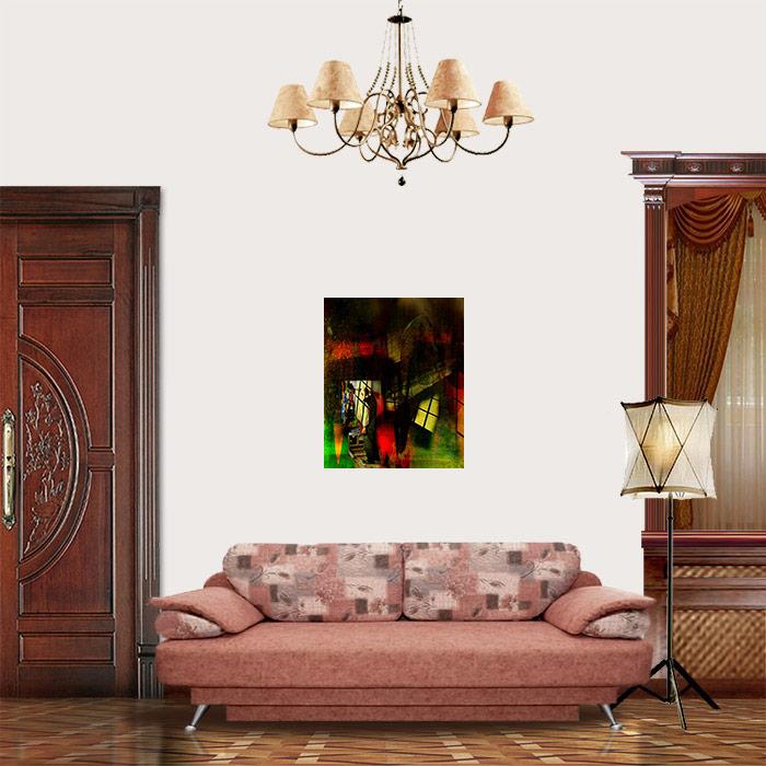 View on Room - Twilight. Self-portrait in the studio