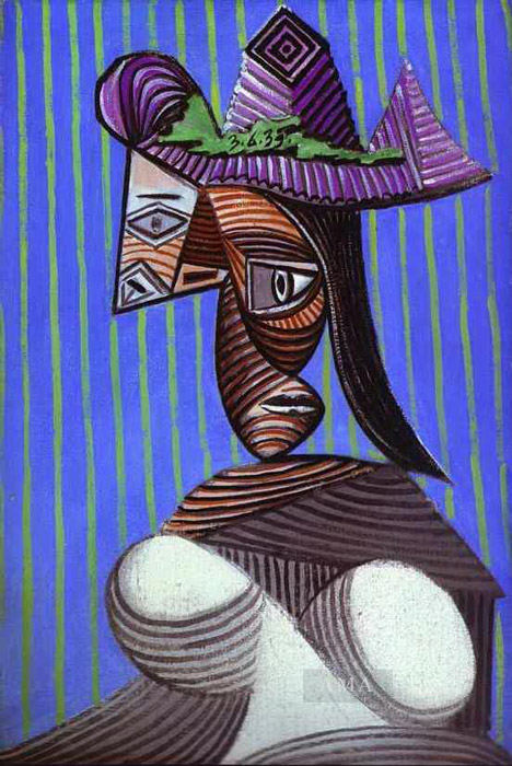 Pablo Picasso - Woman in a Stripped Hat