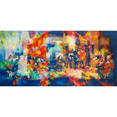 Original Oil Painting on Canvas - The Last Supper (Leonardo da Vinci Improvisation)