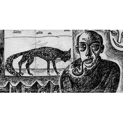Art Illustration - Man with a pipe