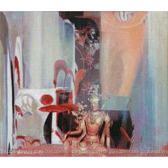 Oil on canvas painting - Pleasure
