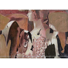 Contemporary abstract painting - Composition VII