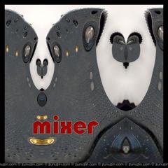 Abstract art poster - Mixer