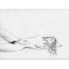 Nude drawing for sale - Laying model