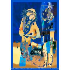 Contemporary Art Poster - Flower of love