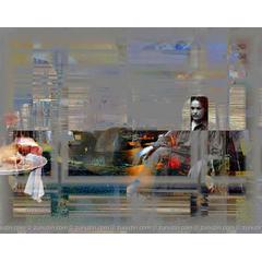 Digital art for sale - Night cafe I