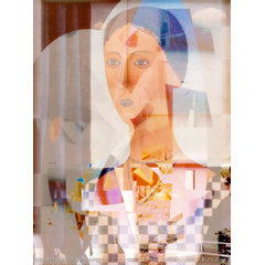 Digital art for sale - Girl behind the Glass