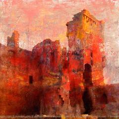 Scottish Castle Poster - Aberdour Castle