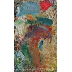 Abstract acrylic painting - Flowers in a Vase