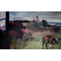 Landscape with bull calf
